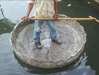 floating concrete shell